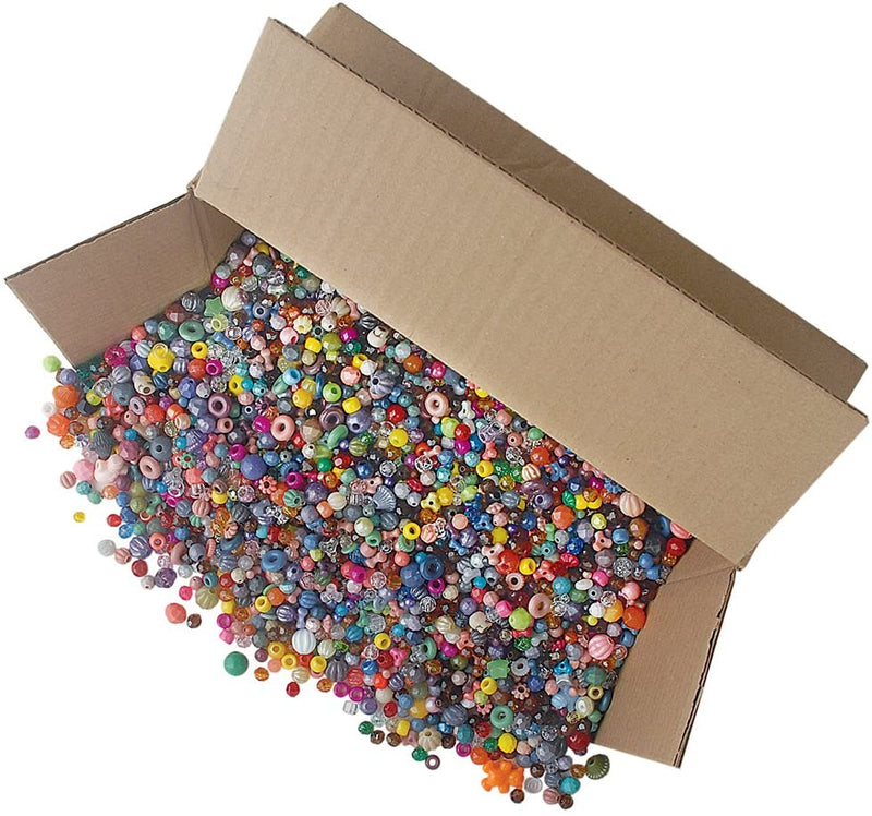 Gemybeads Bonanza 5LB of Mixed Craft Beads, Sizes, Multicolor