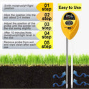 Womtri Soil pH Meter,3-in-1 Soil Test Kits with Moisture,Light and PH Tester for Plant,Garden (Yellow)