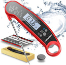 A ALPS Digital Instant Read Meat Thermometer with Probe Fast Waterproof Thermometer with Back light and Calibration. Digital Food Thermometer for Cooking, Kitchen
