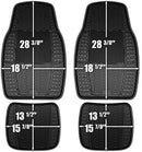 Custom Accessories Armor All 78842 4-Piece Tan All Season Rubber Floor Mat