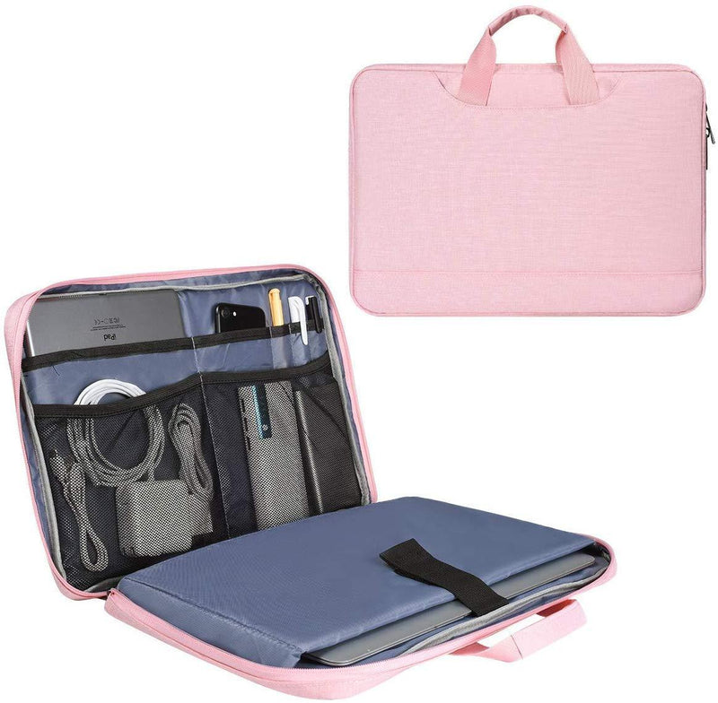 11.6-13 Inch Laptop Bag Sleeve for Women Ladies Travel Briefcase with Accessories Organizer for Lenovo Chromebook C330, Acer Chromebook R11, Surface Pro 12.3, Samsung HP ASUS Dell Chromebook Case,Pink