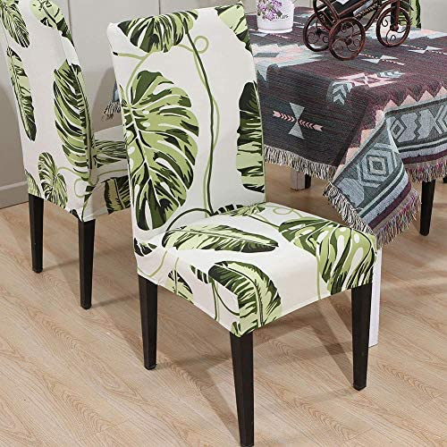 smiry Stretch Printed Dining Chair Covers, Spandex Removable Washable Dining Chair Protector Slipcovers for Home, Kitchen, Party, Restaurant - Set of 6, Black Baroque