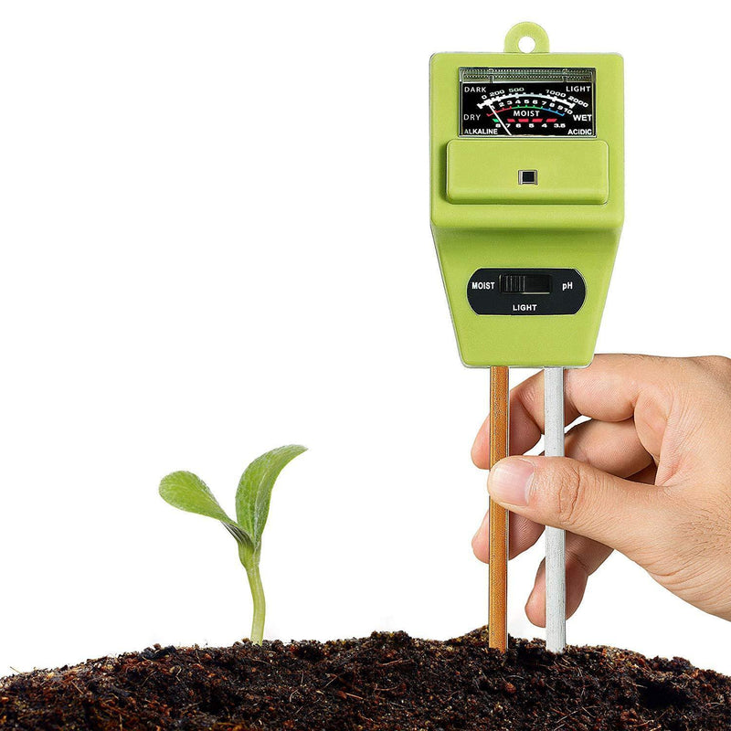 XLUX T10 Soil Moisture Sensor Meter - Soil Water Monitor, Hydrometer for Gardening, Farming, No Batteries Required