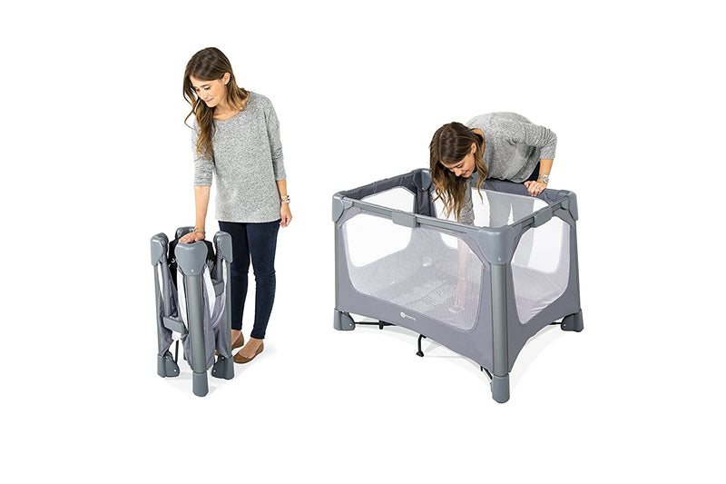 4moms breeze GO Portable Travel Playard | For Baby, Infant, and Toddler | Easy One-Handed Setup | from The Makers of The mamaRoo