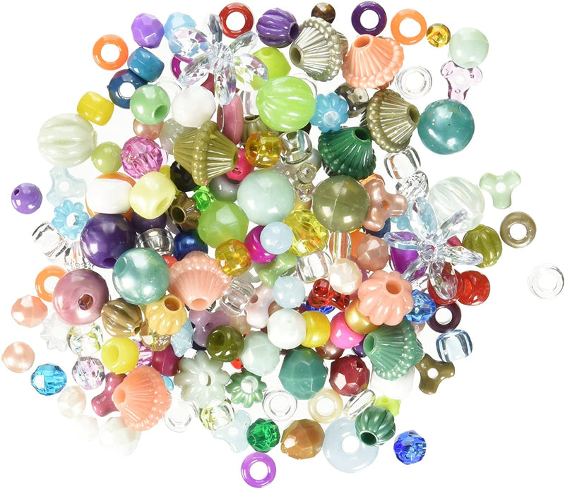 Gemybeads 31673 Mixed Plastic Beads, Assorted, 5-Pound