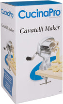 CucinaPro Cavatelli Maker Machine w Easy Clean Rollers- Makes Authentic Gnocchi, Pasta Seashells and More- Recipes Included