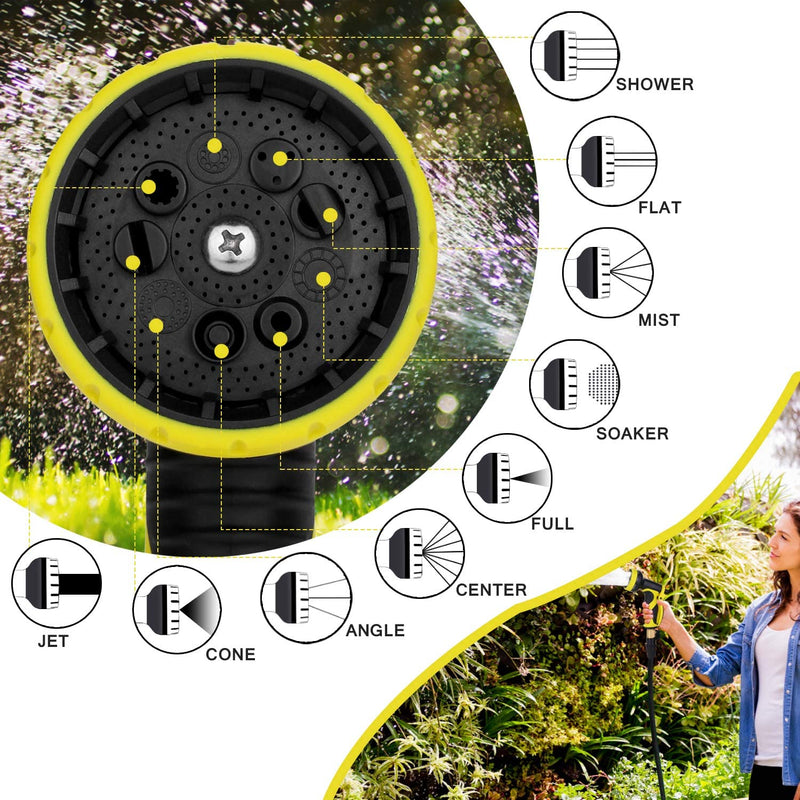 Akarden Garden Hose, 50ft Expandable Hose, Flexible Water Hose with 9 Function Spray Nozzle, Best Choice for Watering Outdoor Lawn