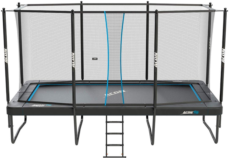 Acon Trampoline Air 16 Sport HD with Enclosure | Includes 10x17ft Rectangular Trampoline, Safety Net, Safety Pad and Ladder