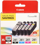 "PGI-280XL/CLI-281 5 Color Pack ""Canon PGI-280XL/CLI-281 5 Color Pack  Compatible to TR8520, TR7520, TS9120 Series,TS8120 Series, TS6120 Series"""