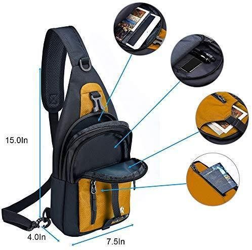 Y&R Direct Sling Bag Sling Backpack,Shoulder Chest Crossbody Bag Purse Nylon Lightweight Multicolor Small Daypack Outdoor Hiking Camping Travel Women Men Boy Girls Kids Gifts
