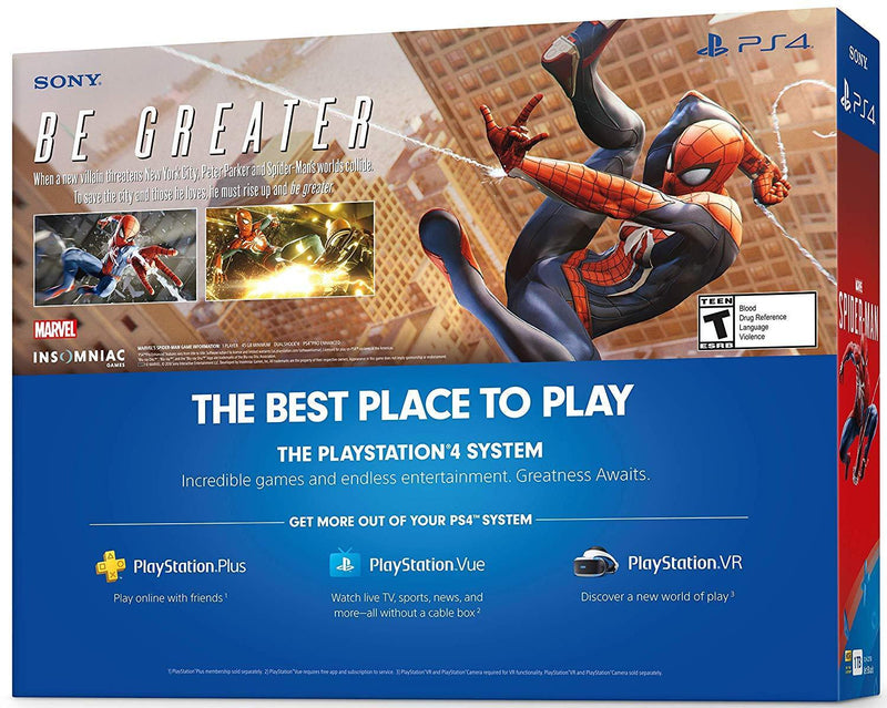 PlayStation 4 Slim 1TB Console - Marvel's Spider-Man Bundle [Discontinued]