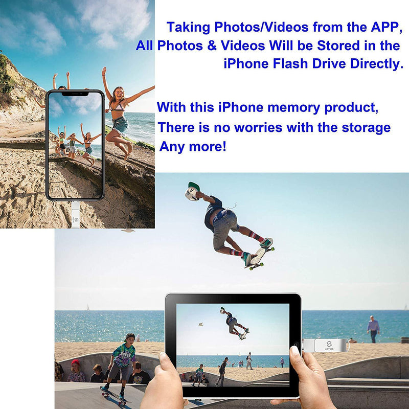 Photo-Stick-for-iPhone-Storage 256GB iPhone-Memory iPhone USB for Photos iPhone USB Flash Drive Memory for iPad External iPhone Storage iPhone Thumb Drive for iPad Photo Stick Mobile for iPhone USB