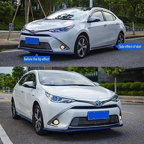 Front Lip ,HengJia Auto Parts 2.5m/8.2ft Car carbon fiber front lip,Front Bumper Lip ,Carbon Lip ,Side Skirt, front lip spoiler 100% waterproof protection(Carbon black)