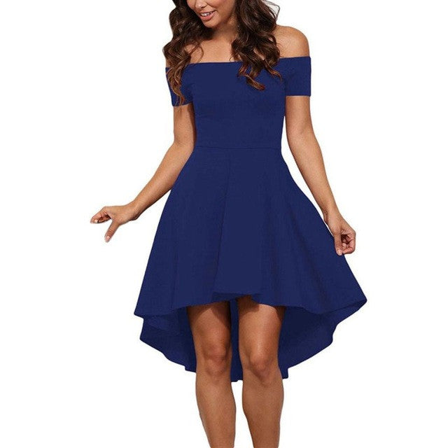 Short Sleeve High Low Cocktail Dress - Humble Ace