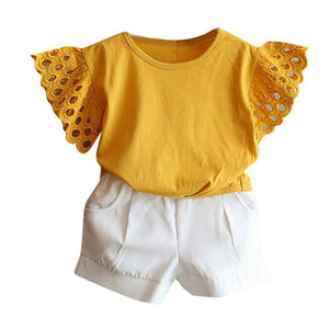 Girls  T-shirts+ Short  2 piece set girls - Humble Ace