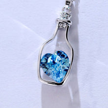 Heart Crystal Pendant  Necklace - Humble Ace