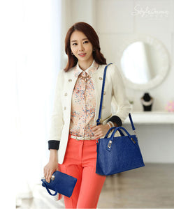 4 Pcs Handbag + Shoulder bag + Clutch + small bag PU Leather Bag Set - Humble Ace