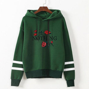 T-shirt For Women Flower Print Long Sleeve Hoodie - Humble Ace