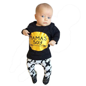 Baby  Boy's set Long Sleeve Letter Blouse Tops +Pants Outfit - Humble Ace