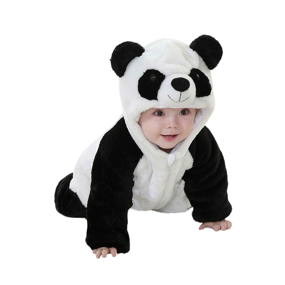 Toddler Newborn Baby Boys Girls Panda Cartoon Hooded Romper - Humble Ace