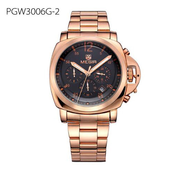 Men Luxury Watch Stainless Steel Quartz - Humble Ace