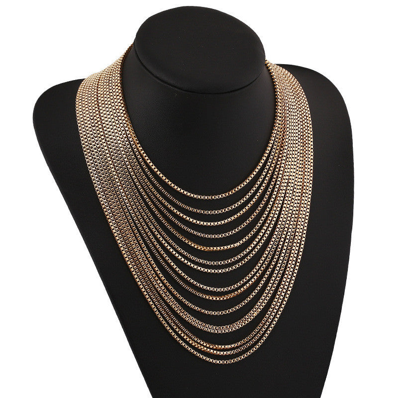 Boho Punk Chain Multilayer - Humble Ace