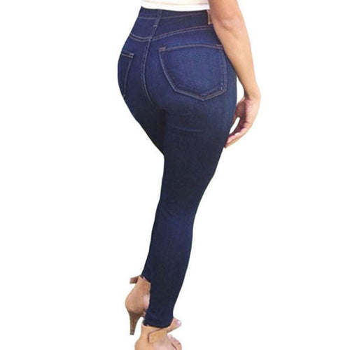 Womens Stone Washed High Waist Skinny Jeans - Humble Ace