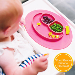 ezpz Mini Mat - One-piece silicone placemat - Humble Ace