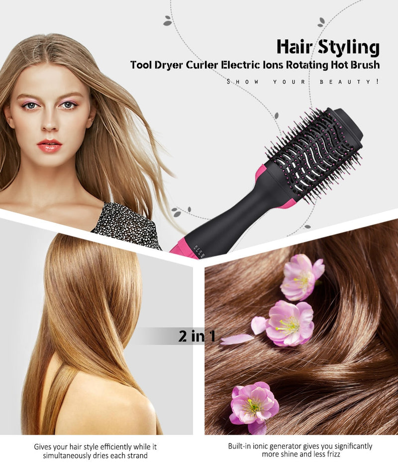 2 In 1 Hair Straightener Curler