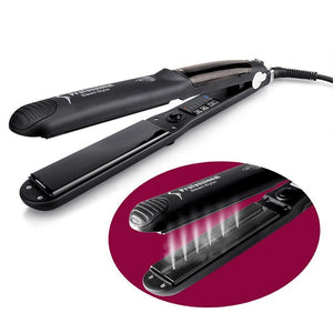 Professional Hair Straightener Ceramic Steam Flat Iron