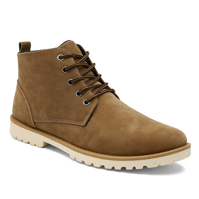 Men Fashion Casual Lace-Up Ankle Boots Size 39-44 - The Poacher Online