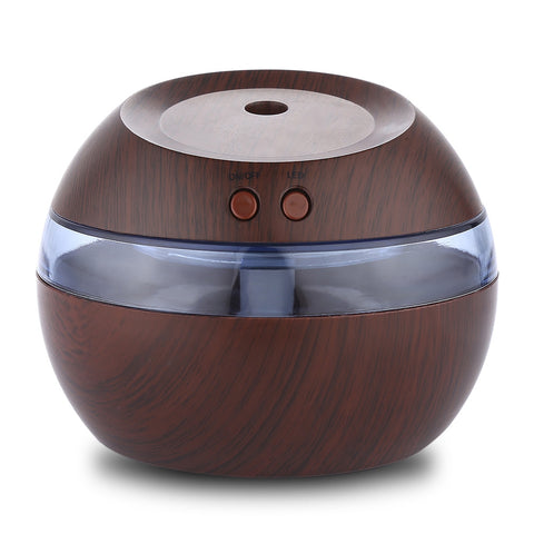 USB Essential Oil Diffuser Ultrasonic Humidifier with Blue LED Light