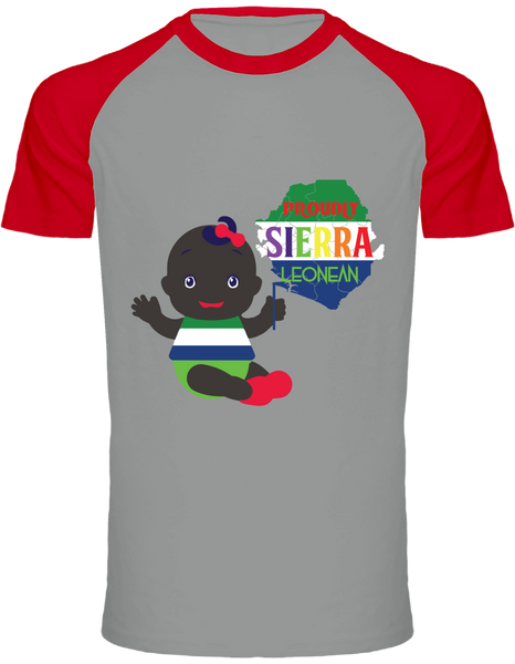 Proudly Sierra Leonean T-shirt two-tone Baseball