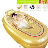 Folding bathtub inflatable adult tub thickened plastic folding bath - The Poacher Online