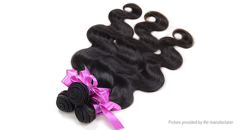 "Brazilian Virgin Hair Body Wave Extension Bundles (12"") - The Poacher Online"