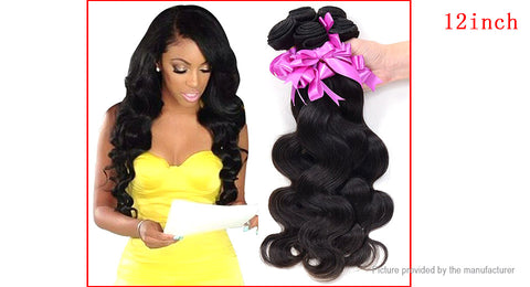 "Brazilian Virgin Hair Body Wave Extension Bundles (12-28"") - The Poacher Online"