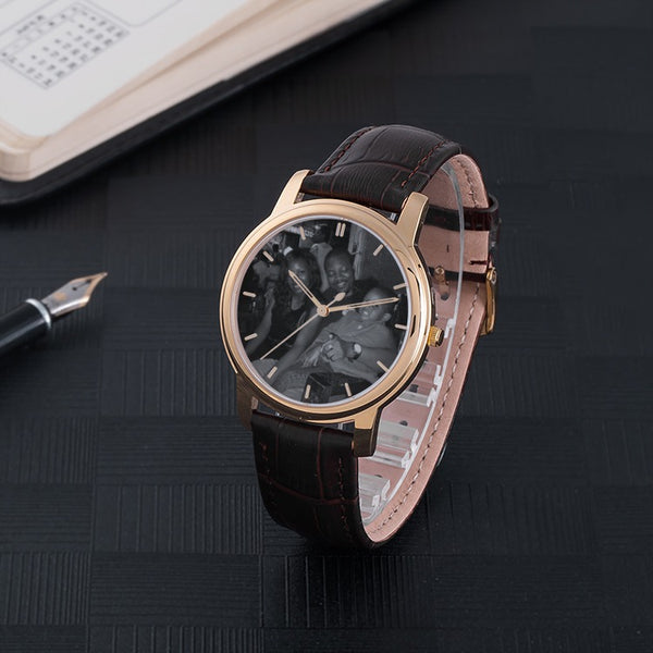 William Carew Waterproof Quartz Fashion Watch With Brown Genuine Leather Band - The Poacher Online