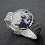 Rugi Waterproof Quartz Fashion Watch With Casual Stainless Steel Band