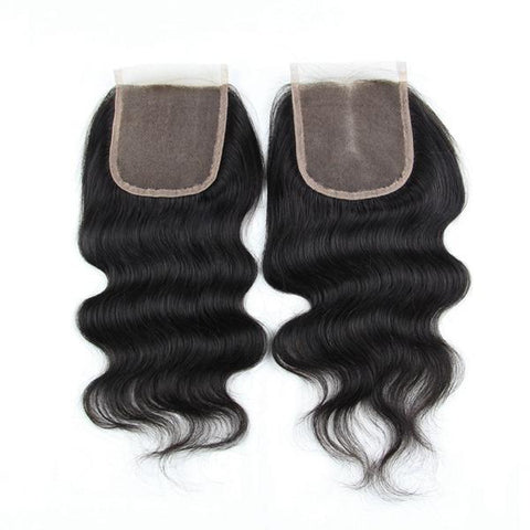 6A Virgin Hair Lace Closure Brazilian Body Wave Human Hair Closures - The Poacher Online