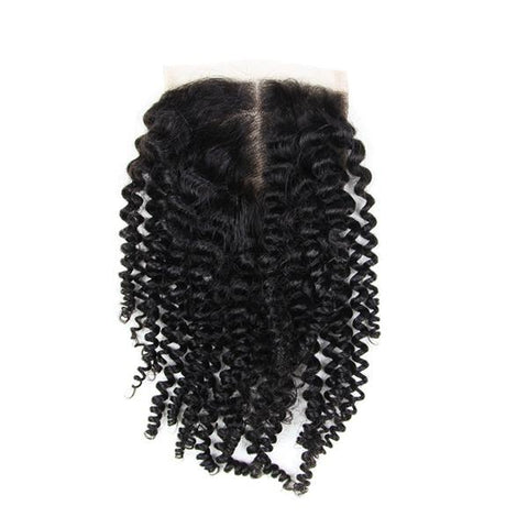 6A 4X4 Kinky Curly Virgin Hair Lace Closure - The Poacher Online