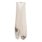 Elegant summer dress sleevless in pure cotton in - The Poacher Online