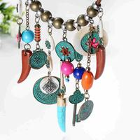 Bohemia Tassel Necklace Earrings Set
