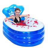 145 x 80 x 45CM Foldable Inflatable Bathtub Portable Adult with Air Pump Steam Spa Sauna Plunge Bath - The Poacher Online