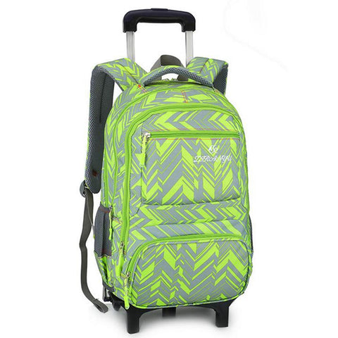 25L Teenager 6 Wheels Detachable Travel Trolley Luggage Backpack Student School Bag - The Poacher Online