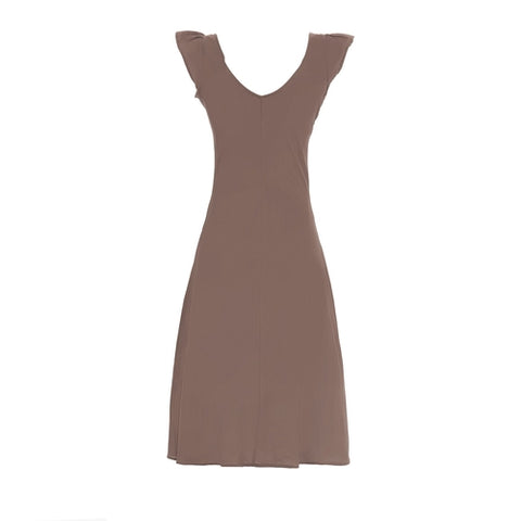 elegant summer dress with epaulettes in pure - The Poacher Online