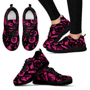 Limited Edition: Cosmetics Sneakers for women (Black) - The Poacher Online