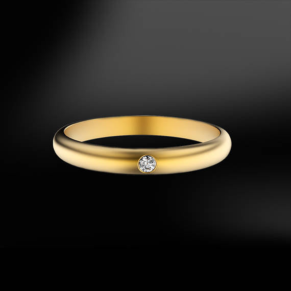 SOLITAIRE DIAMOND GOLD Ring (1)