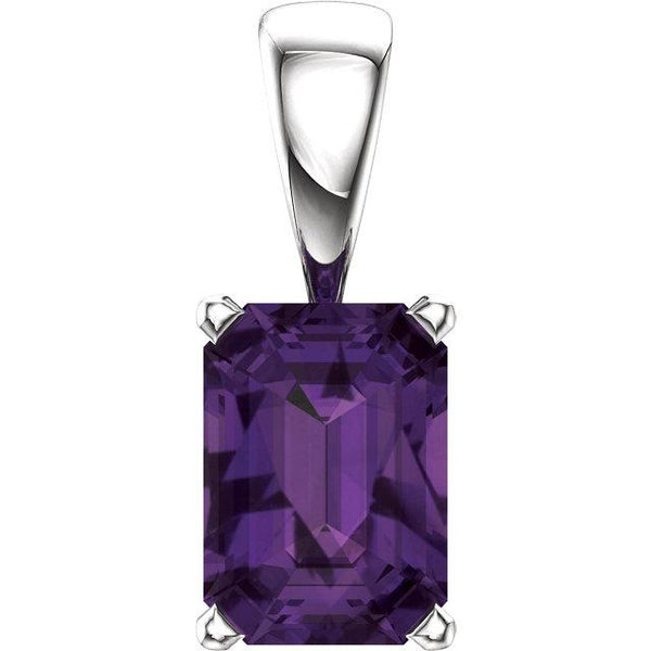 Amethyst Power Pendant with 14K White Gold - Pranic Lifestyle