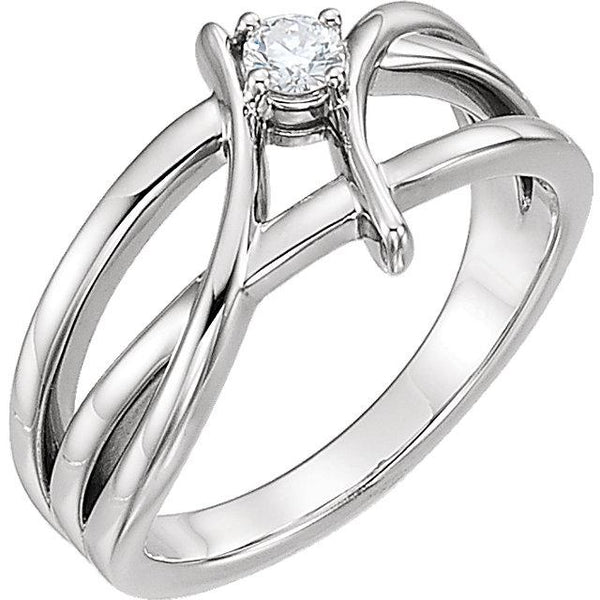 14K White Gold 1/2 CT Diamond Ring - Pranic Lifestyle
