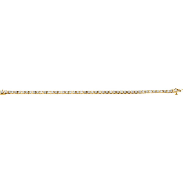 14K Yellow Gold 3 3/8 CTW Diamond Line Bracelet - Pranic Lifestyle